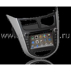 Штатная магнитола HiCES ANHY704 для Hyundai Solaris (Android 4)